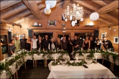 Our banquet in a mountain chalet.
